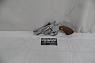 Colt Stainless Steel Revolver Gun AFTER Chrome-Like Metal Polishing and Buffing Services - Stainless Steel Polishing Services