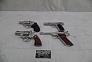 Colt Stainless Steel Guns AFTER Chrome-Like Metal Polishing and Buffing Services - Stainless Steel Polishing Services