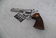 Colt Stainless Steel Python .357 Revolver AFTER Chrome-Like Metal Polishing and Buffing Services - Stainless Steel Polishing Services
