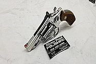 S&W Smith and Wesson Stainless Steel .357 Magnum Revolver AFTER Chrome-Like Metal Polishing and Buffing Services - Steel Polishing - Gun Polishing