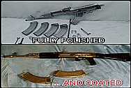 BEFORE AND AFTER Chrome-Like Metal Polishing and Buffing Services - Gun Polishing - Gold Look Gun