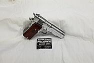Stainless Steel Llama Semi - Auto Gun AFTER Chrome-Like Metal Polishing - Stainless Steel Polishing and Gun Grip Polishing