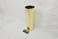 Brass Howitzer Shell AFTER Chrome-Like Metal Polishing and Buffing Services - Brass Polishing Services