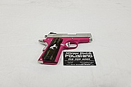 Colt 1911 Stainless Steel Gun Parts AFTER Chrome-Like Metal Polishing and Buffing Services - Gun Polishing Services