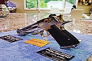 Desert Eagle 50 Caliber Gun AFTER Chrome-Like Metal Polishing and Buffing Services / Restoration Services - Steel Polishing - Plus Custom Titanium Nitride Coating for Gold Look - Plus Special Polishing Process for Titanium Nitride Coating