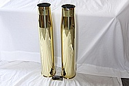 Brass 105MM Howitzer Shell AFTER Chrome-Like Metal Polishing and Buffing Services / Restoration Services
