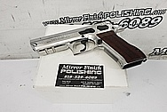 Jericho 941 9MM Stainless Steel Gun AFTER Chrome-Like Metal Polishing and Buffing Services / Restoration Services - Stainless Steel Polishing - Gun Polishing