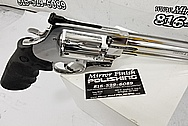 Smith and Wesson S&W 500 Magnum Revolver Gun AFTER Chrome-Like Metal Polishing and Buffing Services - Stainless Steel Polishing - Gun Polishing