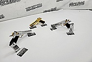 Desert Eagle 50 Caliber & Jericho J941 F9 9mm Stainless Steel Semi - Auto Gun / Pistol Project AFTER Chrome-Like Metal Polishing and Buffing Services - Stainless Steel Polishing - Gun Polishing - Custom Gold Look Coating - Titanium Nitride Coating