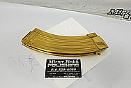 AR-15 - Auto Magazine Clip AFTER Chrome-Like Metal Polishing and Buffing Services - Stainless Steel Polishing Services - Gun Polishing Services Plus Custom Gold Look Coating Services