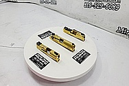 Stainless Steel M&P Gun Slide, Beretta Gun Slide and Glock Gun Slide AFTER Chrome-Like Metal Polishing and Buffing Services - Stainless Steel Polishing - Gun Polishing - Plus Custom Gold Look