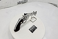 Stainless Steel Colt Python .357 Magnum AFTER Chrome-Like Metal Polishing and Buffing Services / Restoration Services - Steel Polishing - Gun Polishing