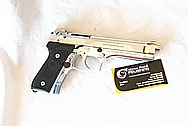 Beretta 9mm M9 Stainless Steel Gun Frame, Slide, Barrel, Trigger, Hammer AFTER Chrome-Like Metal Polishing and Buffing Services / Restoration Services