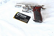 Sig Sauer Elite P229 Stainless Steel Gun Pieces AFTER Chrome - Like Metal Polishing and Buffing Services and Painting Services / Restoration Services
