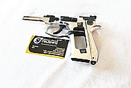 Stainless Steel Beretta M9 Gun Frame AFTER Chrome-Like Metal Polishing and Buffing Services / Restoration Services