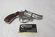 Stainless Steel Smith & Wesson S&W Model 66 Revolver Handgun AFTER Chrome-Like Metal Polishing and Buffing Services / Restoration Services