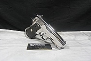 Colt MK IV Series 80 Officers ACP .45 Auto Semi Automatic Gun AFTER Chrome-Like Metal Polishing and Buffing Services / Restoration Services