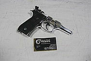 Beretta 92 Gun Frame AFTER Chrome-Like Metal Polishing and Buffing Services / Restoration Services