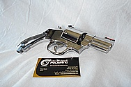 Steel .44 Magnum Gun Revolver AFTER Chrome-Like Metal Polishing and Buffing Services / Restoration Services