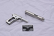 Colt 1911 Steel Handgun AFTER Chrome-Like Metal Polishing and Buffing Services