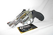 S&W Steel .357 Magnum Revolver Gun AFTER Chrome-Like Metal Polishing and Buffing Services / Resoration Services
