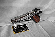 Stainless Steel Smith & Wesson .45 Auto Gun / Pistol AFTER Chrome-Like Metal Polishing and Buffing Services / Restoration Services