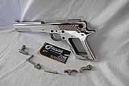 Stainless Steel AMT Auto Gun / Pistol AFTER Chrome-Like Metal Polishing and Buffing Services / Restoration Services / Sandblasting Services