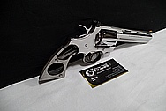 Stainless Steel Python Revolver .357 Magnum Gun AFTER Chrome-Like Metal Polishing and Buffing Services / Restoration Services