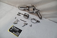 Stainless steel .357 Magnum Ruger GP 100 Gun / Pistol AFTER Chrome-Like Metal Polishing and Buffing Services / Restoration Service