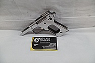 Colt MKIV 1911 Series 80 Stainless Steel Semi - Automatic Gun AFTER Chrome-Like Metal Polishing and Buffing Services / Restoration Service