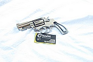 S&W Model 66 Stainless Steel Revolver Gun Cylinder and Frame AFTER Chrome-Like Metal Polishing and Buffing Services