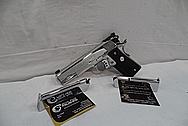 Colt Gold Cup Trophy 1911 Stainless Steel Semi - Automatic Gun AFTER Chrome-Like Metal Polishing and Buffing Services / Restoration Service