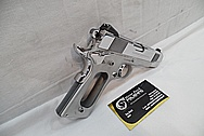 Colt Commander 1911 Stainless Steel Semi - Automatic Gun AFTER Chrome-Like Metal Polishing and Buffing Services / Restoration Service