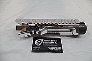 Aluminum Cobalt Kinetics AR - 15 Gun / Rifle Upper, Lower, Hand Grip and Trigger Guard AFTER Chrome-Like Metal Polishing and Buffing Services / Restoration Service