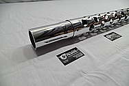 World War II Machine Gun Parts / Barrle AFTER Chrome-Like Metal Polishing and Buffing Services / Restoration Service