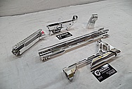 Cobalt Kinetics Aluminum AR-15 Gun Parts AFTER Chrome-Like Metal Polishing and Buffing Services / Restoration Service
