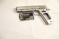 Coonan Classic 357 Semi-Automatic Stainless Steel Gun Pieces AFTER Chrome-Like Metal Polishing and Buffing Services