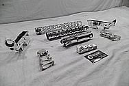 Aluminum AR-15 Gun Parts AFTER Chrome-Like Metal Polishing and Buffing Services / Restoration Service