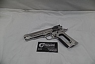 Colt Stainless Steel MKIV Series 80 Government Model Stainless Steel 1911 Semi-Automatic Gun / Pistol AFTER Chrome-Like Metal Polishing and Buffing Services / Restoration Services
