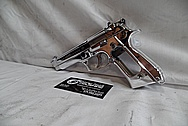 Beretta 92FS 9MM Auto Stainless Steel Gun / Pistol AFTER Chrome-Like Metal Polishing - Stainless Steel Polishing