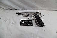 Colt Commander .45 Auto 1911 Stainless Steel Gun / Pistol AFTER Chrome-Like Metal Polishing - Stainless Steel Polishing