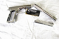 Witness 1 Stainless Steel Gun Slide, Frame and Barrel AFTER Chrome-Like Metal Polishing and Buffing Services