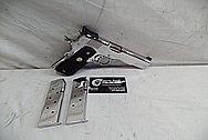 Colt Gold Cup Trophy .45 Auto 1911 Stainless Steel Gun / Pistol AFTER Chrome-Like Metal Polishing - Stainless Steel Polishing