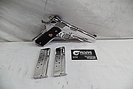 Colt Government Model Delta Elite .45 Auto 1911 Frame Stainless Steel Gun / Pistol AFTER Chrome-Like Metal Polishing - Stainless Steel Polishing