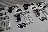 1911 Frame Stainless Steel Guns / Pistols AFTER Chrome-Like Metal Polishing - Stainless Steel Polishing