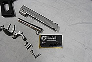 Sig Sauer C3 Grip Laser 1911 .45 Auto Stainless Steel / Aluminum Frame Gun Parts BEFORE Chrome-Like Metal Polishing and Buffing Services / Restoration Services