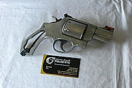 Steel .44 Magnum Gun Revolver BEFORE Chrome-Like Metal Polishing and Buffing Services / Restoration Services
