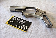 Ruger SP 101 Stainless Steel Pistol BEFORE Chrome-Like Metal Polishing and Buffing Services Plus Custom Engraving Services