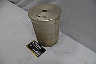 Steel U.S Military 105mm howitzer round BEFORE Chrome-Like Metal Polishing and Buffing Services / Restoration Service
