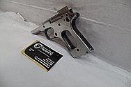 Colt MKIV 1911 Series 80 Stainless Steel Semi - Automatic Gun BEFORE Chrome-Like Metal Polishing and Buffing Services / Restoration Service